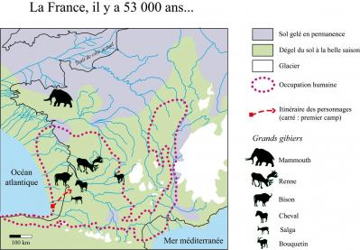 Carte torrent de bisons couleur degr